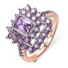 AAA Cubic Zirconia Geometric Rectangle Halo Engagement Rings