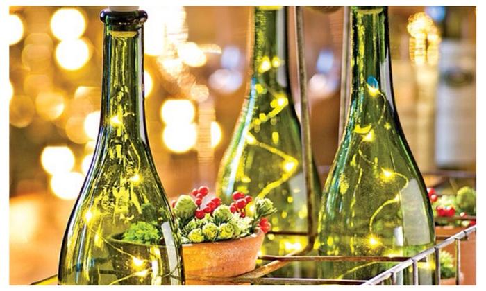 Led Cork Wine Bottle Lights 3 Pack White Or Multi