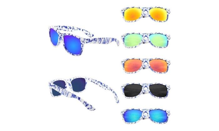 Zodaca Blue/White Porcelain Frame Sunglasses 100% UV Protection