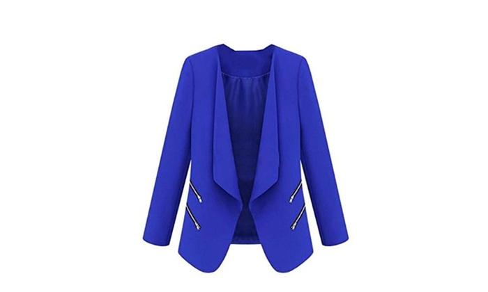 Women's Open Front Short Blazer Jacket Suits
