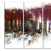 Nightlife Cityscape - Large Metal Wall Art