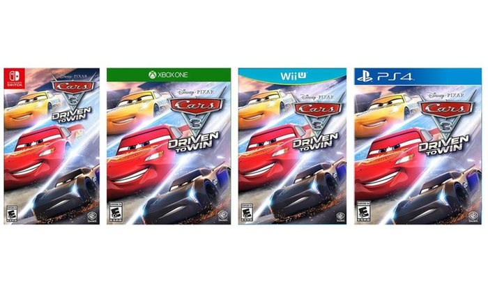 cars 3 driven to win for xbox 360 xb1 ps3 ps4 nintendo switch or wii u groupon. Black Bedroom Furniture Sets. Home Design Ideas