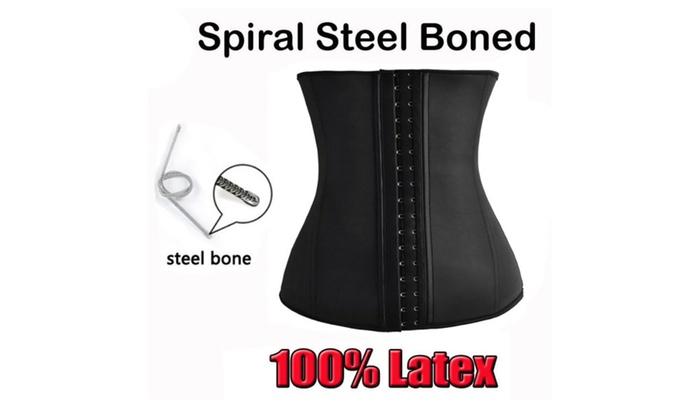 Latex Steel Boned Waist Cincher