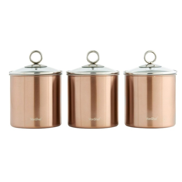Tea Coffee Sugar Canisters Kitchen