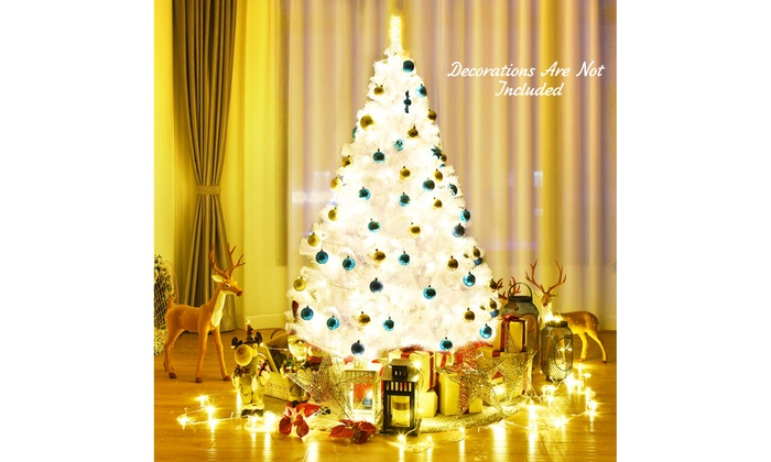 9ft White Christmas Tree Classic Pine Tree PVC Material Thicken Tips White