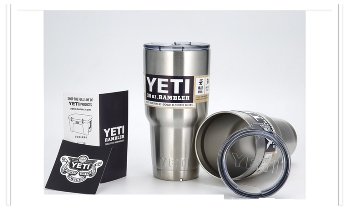 Yeti 20 Oz 30 Oz Cup Car Cup Stainless Steel Fash Groupon