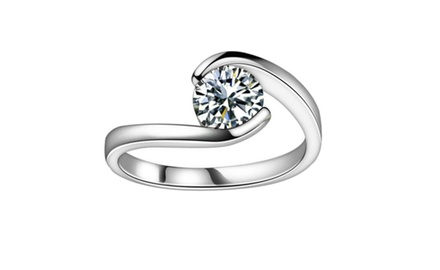 0.75 ct Ladies Round Cut Diamond Anniversary Ring
