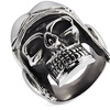 Men's Stainless Steel Aviator Skull Cast Ring