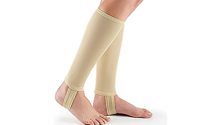 4925b1f7e81 New Ultra Thin Pain Relief Open Heel Stirrup Compression Stocking ...