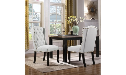 Kammen Dining Side Accent Wingback Chair Set (2-Piece)