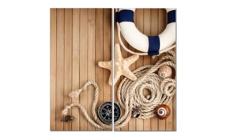"Split Canvas Art Set 12""x 24"" 2 Pieces Nautical Theme 57b84355-8113-40da-9479-502a3fa9db36"