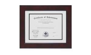 LawrenceFrames 187011 11 x 14 in. Certificate Picture Frame, Walnut