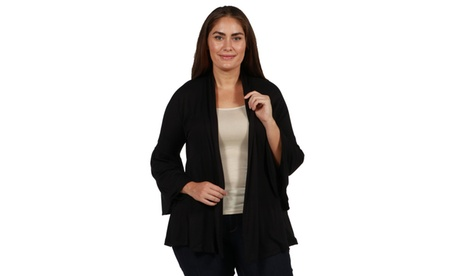 24/7 Comfort Apparel Bella Plus Size Shrug 5c338454-ac4d-4071-9672-2a1718552ae2