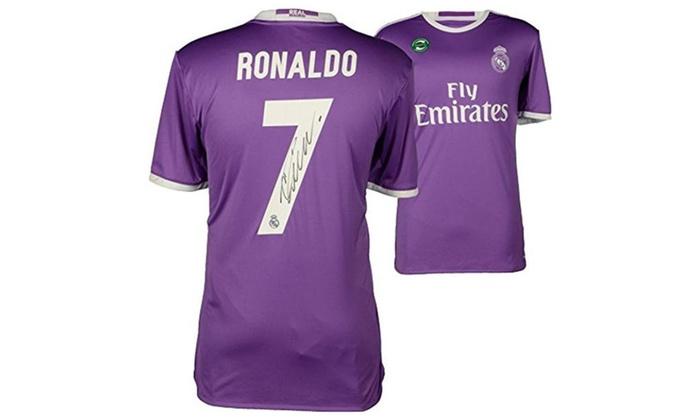 sports shoes e48b4 933a0 Cristiano Ronaldo Real Madrid Autographed 2016-17 Away Jersey