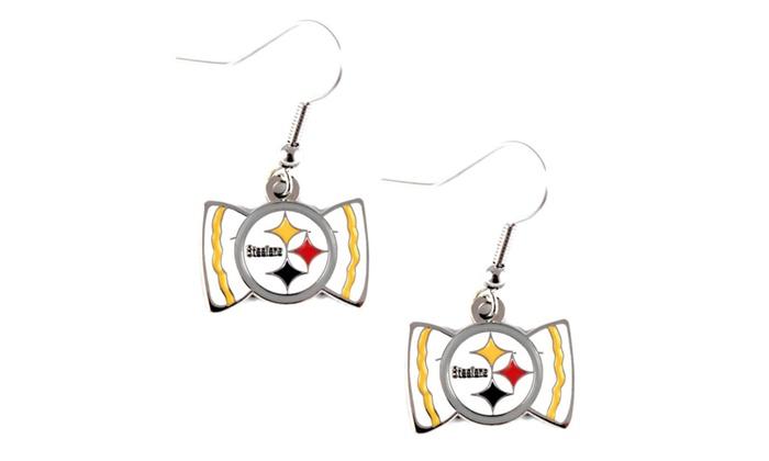 NFL Sports Team Bow Tie Earring Dangle