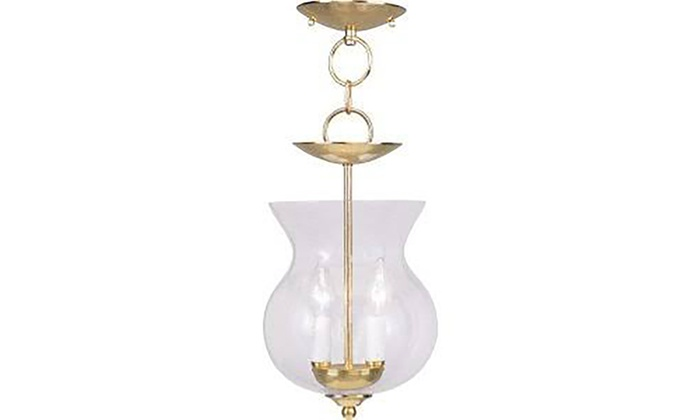 Legacy 2-Light Polished Brass Pendant