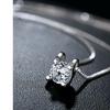 3.87 CTTW Soliatire Crystal Pendant Necklace