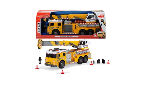 Dickie Toys - 24 Inch Light and Sound Action Crane Truck with Moving Ladder 8c251a6a-a203-4ad8-aac7-a07572fcb7ab