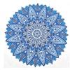 Blue Floral Round Cutwork Mandala Throw Tapestry Beach Tapestries