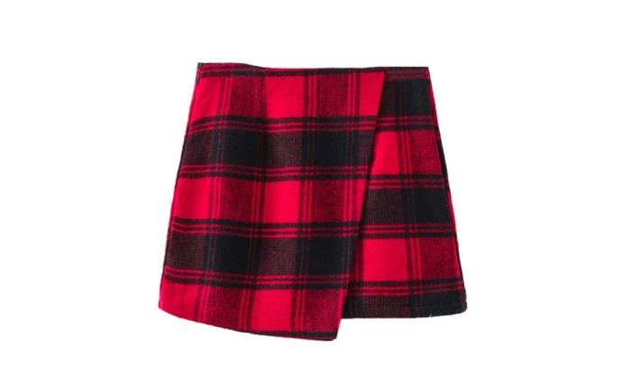 Women's BackZipper Colorblock European Style Skirts