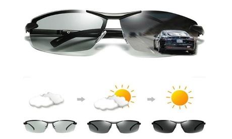 Men's Photo-chromatic Polarized Sunglasses Outdoor Driving Fishing Sport Eyewear