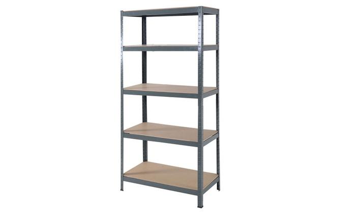 72u0027u0027 5 Level Garage Shelf Metal Storage Adjustable Shelves ...