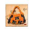 Roderick Stevens Bow Purse Black on Orange Canvas Print