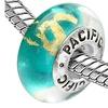 Sterling Silver 'Mambo' Murano-style Glass Bead