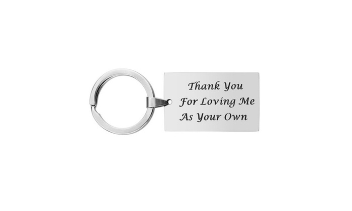 Stepfather Dad Keychain Gift Father Day Key Chain Daughter ... 1a159afc2fcc