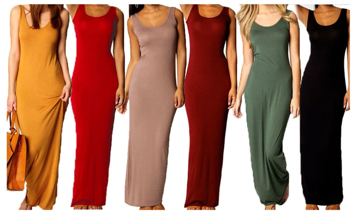 Long Sleeveless Maxi Dress