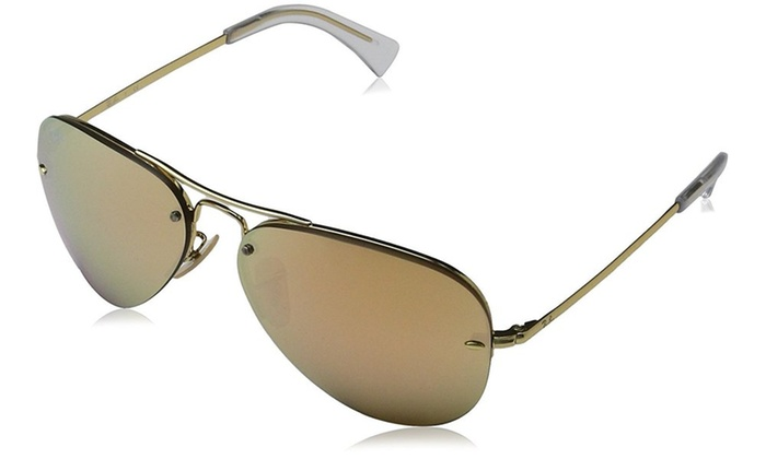 a9075ff8088 Ray-Ban Pink Mirror Aviator Sunglasses - RB3449-001 2Y-59