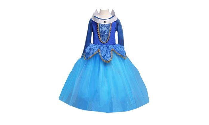 Kids Girls Costume  Princess Aurora Sleeping Beauty Dress Size 3//4