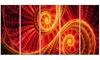 SunDance Large Digital Glossy Metal Wall Art