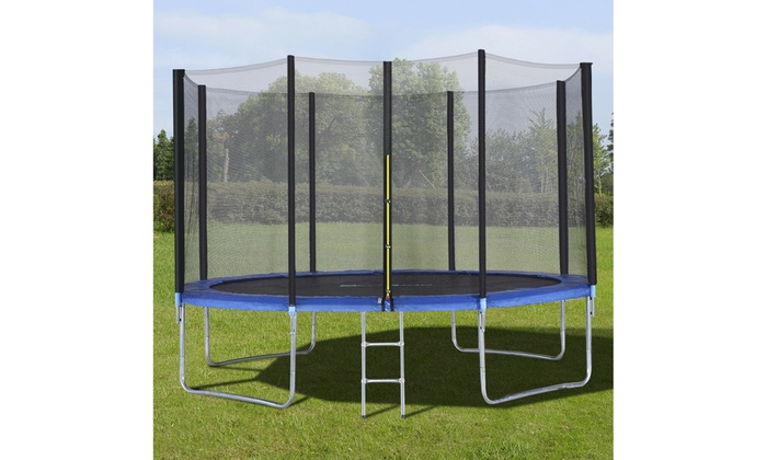 5-10 Foot Trampoline Combo Kids Bounce Jump Pad Net Backyard Safety Enclosure