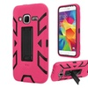 Insten Hybrid Hard Case For Samsung Galaxy Core Prime Hot Pink/black