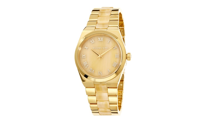 Michael kors ladies channing bracelet watch groupon for Michaels craft store watches