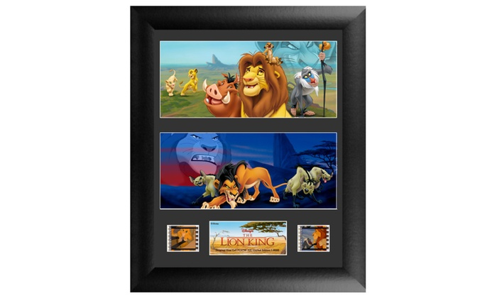 Disney The Lion King Framed FilmCells Wall Art with real movie film ...