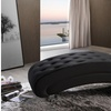 Pease Upholstered Crystal-Button Tufted Chaise Lounge