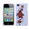 Insten Wisteria Butterfly Phone Case With Diamonds For Iphone 4 4s