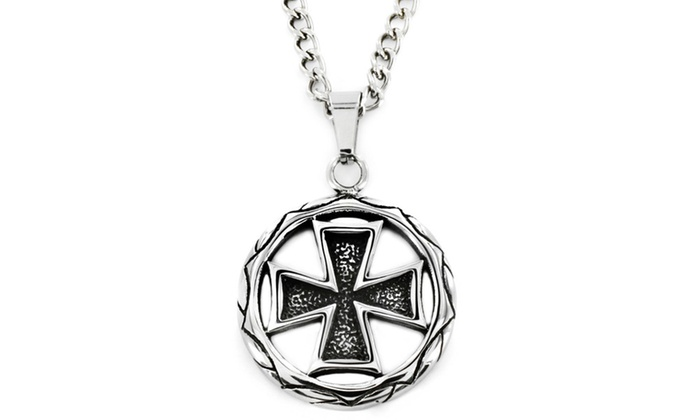 Groupon Goods: West Coast Jewelry Stainless Steel Celtic Cross Medallion Necklace