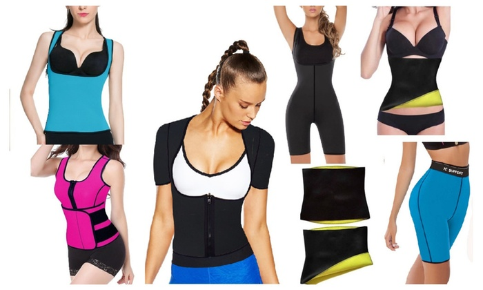 Neoprene Waist Trainer Belt Body Shaper Slimmer Vest Shirt Shorts