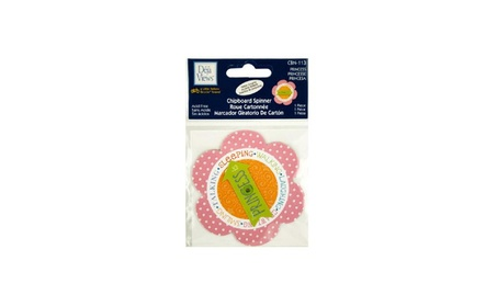 Bulk Buys Princess Chipboard Spinner Sticker - Pack Of 18 608b2f90-ff29-405b-89fe-decb68f7c6f4