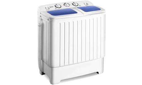 Portable Mini Compact Twin Tub 17lb Washing Machine Washer Spin Dryer photo