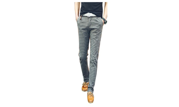 Men's Straight Mid-Rise Casual Pants