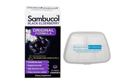 Sambucol Original Formula 30 Tablets and Biosource Nutrition Pill Pack feea3adf-acf0-4793-b7f3-442235b4c1af