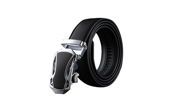 Men's Fashion Car Automatic Buckle Leather Genuine Leather Belts – as picture / one size
