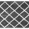 Soft and Cozy Trellis Shag Area Rugs  (5 'x 8')