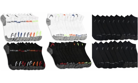 Head Mystery Men's Moisture-Wicking Ankle or Quarter Socks (10-Pairs) 6dc3a9dc-8bf8-44f4-aeed-9e426bf75a83