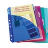 C-Line Products  Mini  5-Tab Poly Index Dividers  Assorted Colors