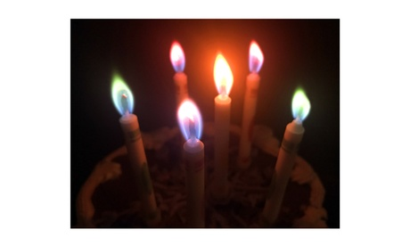 Multicolored Flame Party Candle 4-pack 9d923eff-97a4-4c96-abd9-2c47bbd68087